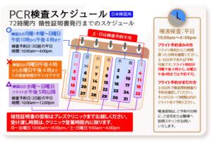 PCR検査スケジュール